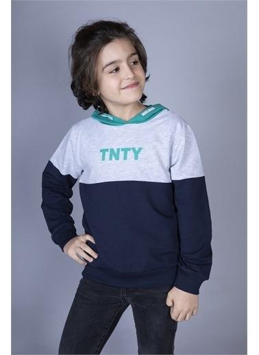 Toontoy Kids Toontoy Erkek Çocuk Tnty Baskılı Sweatshirt Yeşil